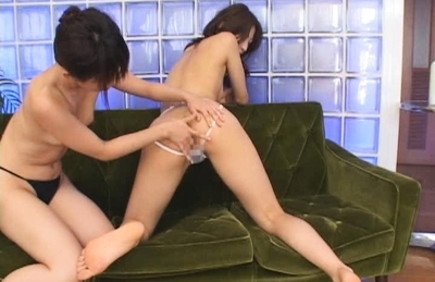 Fancy little lesbian gal Ahihiro Hara gets her anal fingered and licked