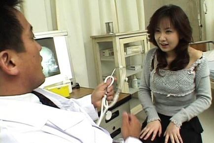 Tempting Asian nurse Nanami Komachi in harcore anal porn action