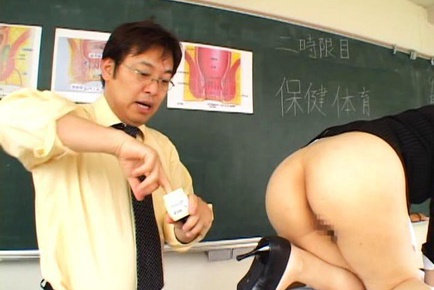 Japanese teacher anal
