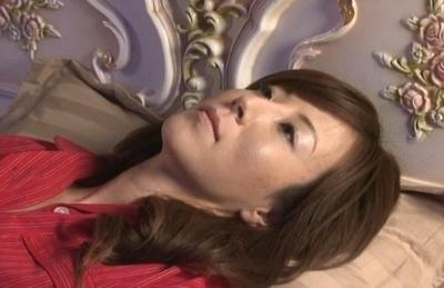 Glamourous chick Honami Takasaka masturbates her anal and slit