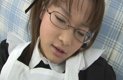 Frisky Asian schoolgirl Yui Shirasagi likes to get her anal fingered