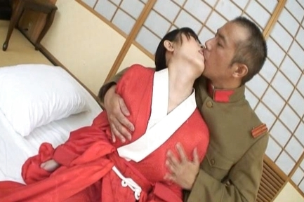 Busty girl in kimono Hello Mikity enjoys pussy and anal screwing