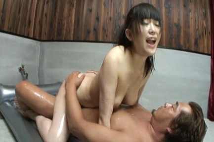 Sweet Asian gal Hello Mikity enjoys spanking and anal sex action