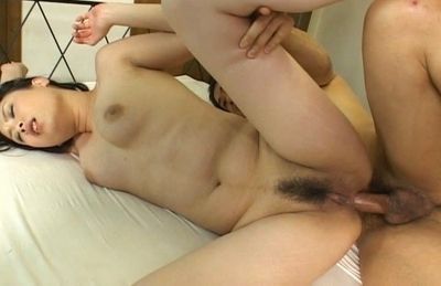 Charming Asian chick Hitomi Aizaw gets her tight anal hammered hard